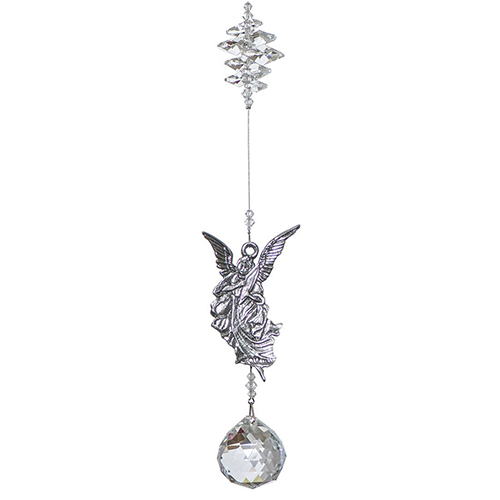 P100 Pewter and Crystal Suncatchers - Clear
