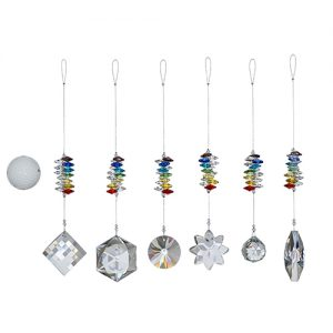 Large Crystals Suncatchers – Rainbow (Chakra)